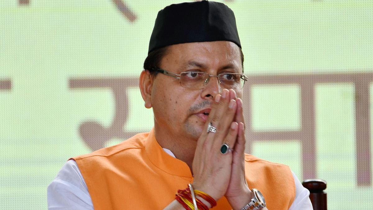 """<div class=""""paragraphs""""><p>Uttarakhand Chief Minister Pushkar Singh Dhami.</p></div>"""