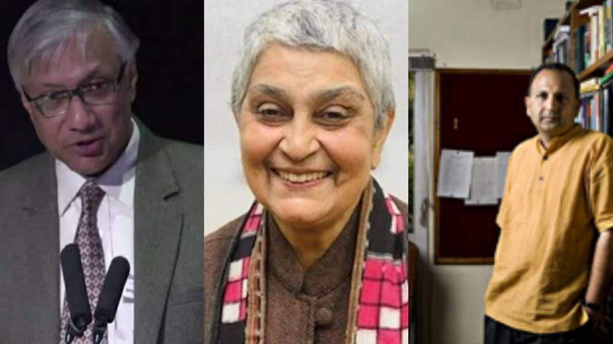 "<div class=""paragraphs""><p>(fro left to write) Sukanta Chaudhari, Gayatri Chakravorty Spivak and PB Mehta</p></div>"