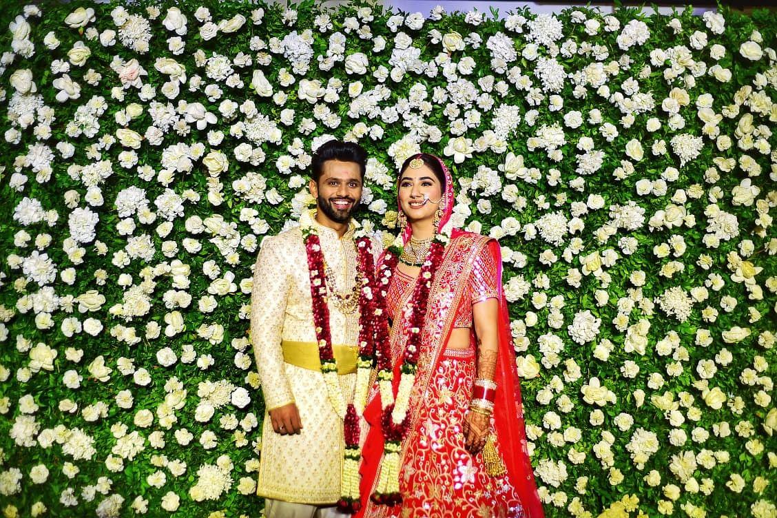 "<div class=""paragraphs""><p>Rahul Vaidya and Disha Parmar after their wedding.</p></div>"