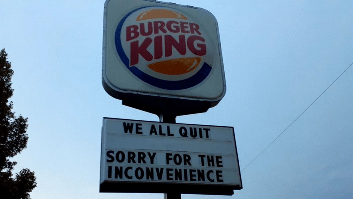 """<div class=""""paragraphs""""><p>The entire staff of Burger King in Lincoln, Nebraska, quit.</p></div>"""