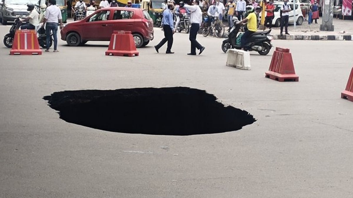 Road Caves in Near IIT Delhi, Second Such Incident This Month