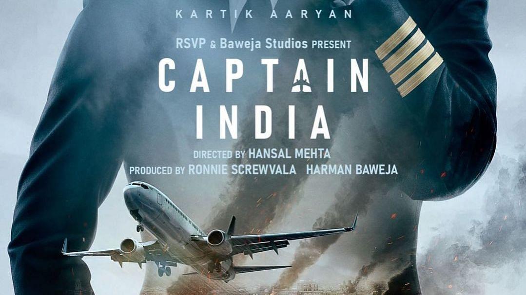 "<div class=""paragraphs""><p>Kartik Aaryan stars as a pilot in Hansal Mehta's&nbsp;<em>Captain India.</em></p></div>"