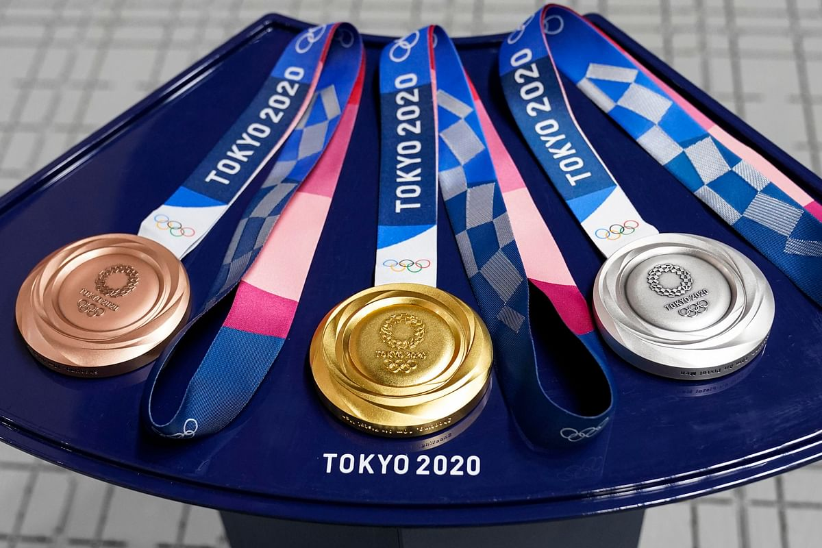 """<div class=""""paragraphs""""><p>The medals for the athletes at the 2020 Tokyo Olympics</p></div>"""
