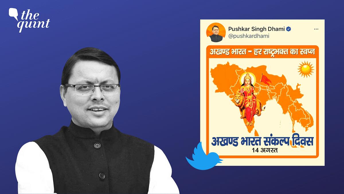 Uttarakhand CM's 'Akhand Bharat' Map Stirs Row Before Swearing-In
