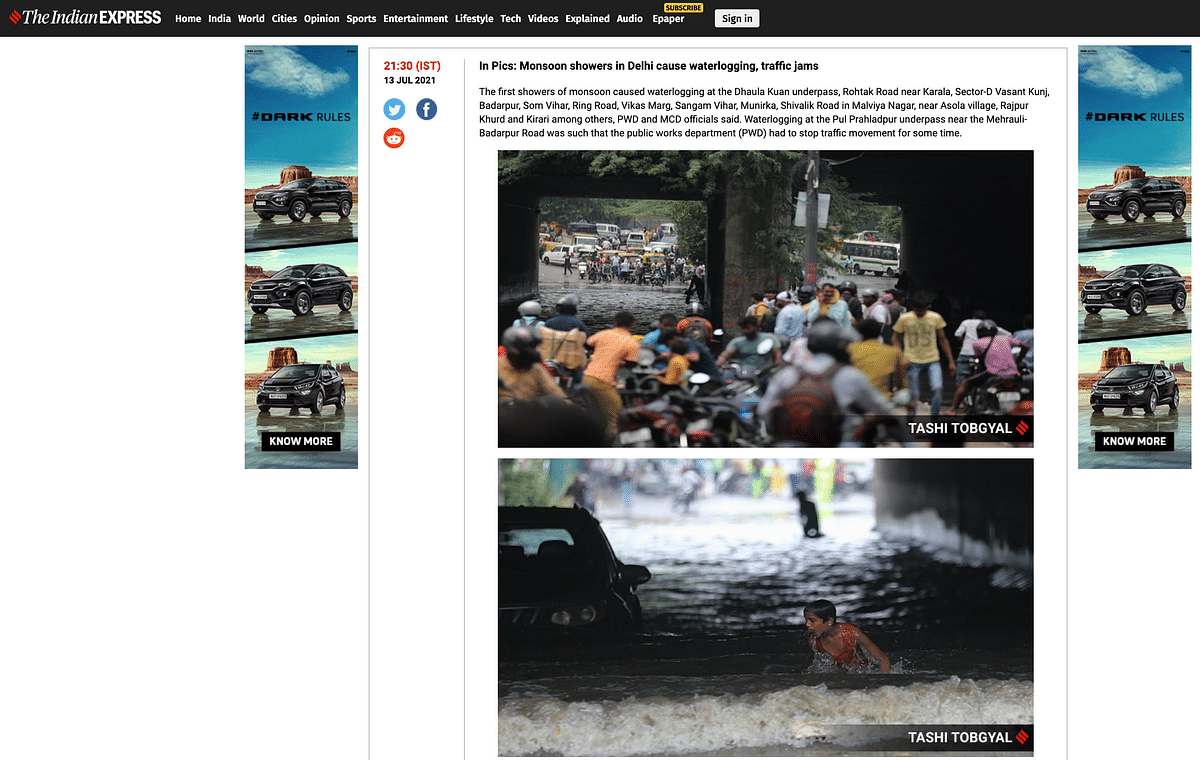 Old Images Used to Show Recent Waterlogging in Delhi After Rain