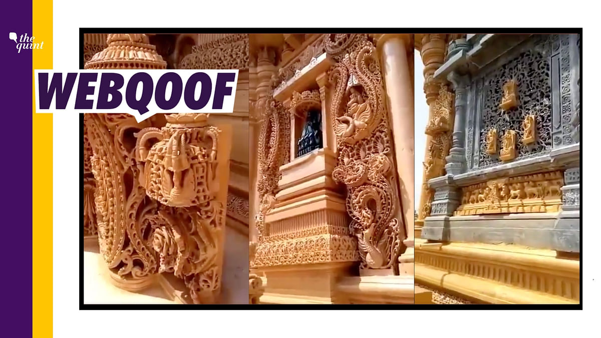 Video of Gujarat Temple Falsely Shared as Ram Mandir in Ayodhya