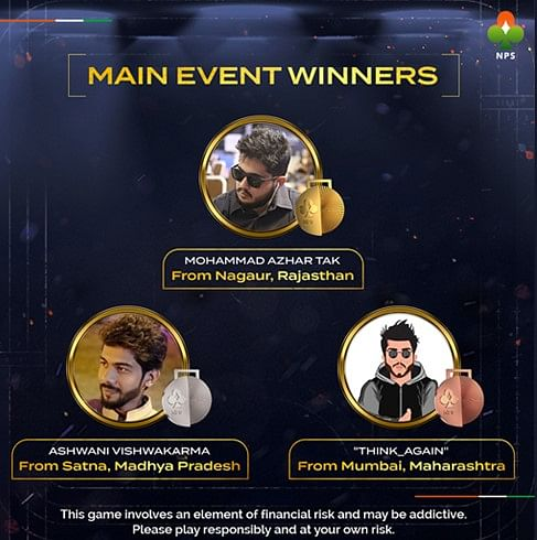 National Poker Series Crowns India's First Ever Poker Gold Medalists