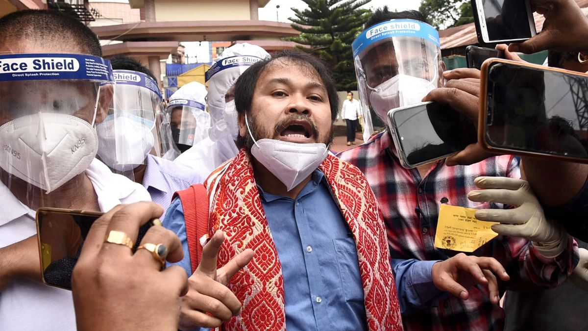 Akhil Gogoi Acquitted in UAPA Case, Walks Out of Jail
