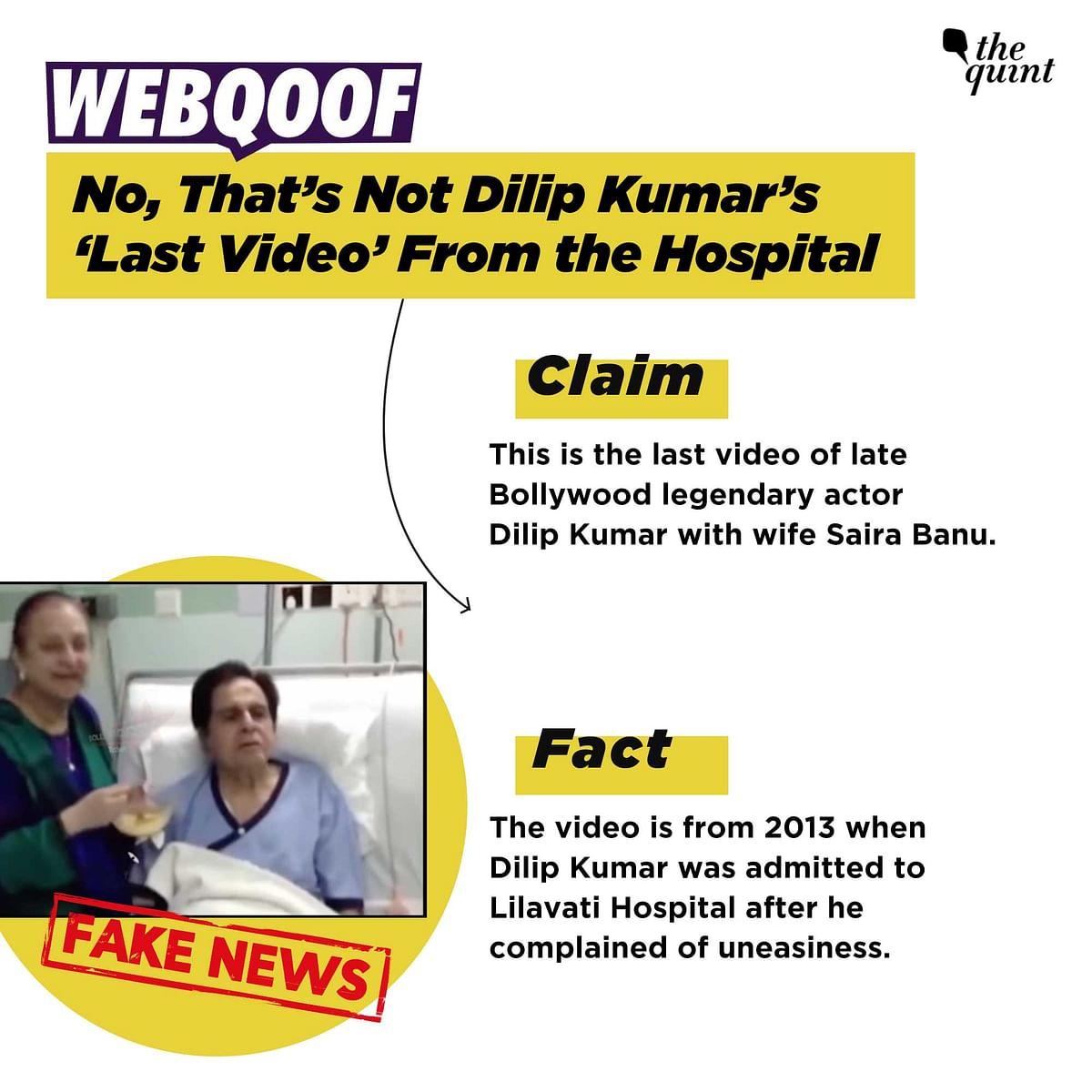 "<div class=""paragraphs""><p>Dilip Kumar's video from 2013.&nbsp;</p></div>"