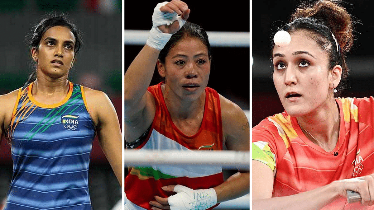"""<div class=""""paragraphs""""><p>MC Mary Kom, PV Sindhu and Manika Batra recorded victories on Day 2 of the 2020 Tokyo Olympics.</p></div>"""
