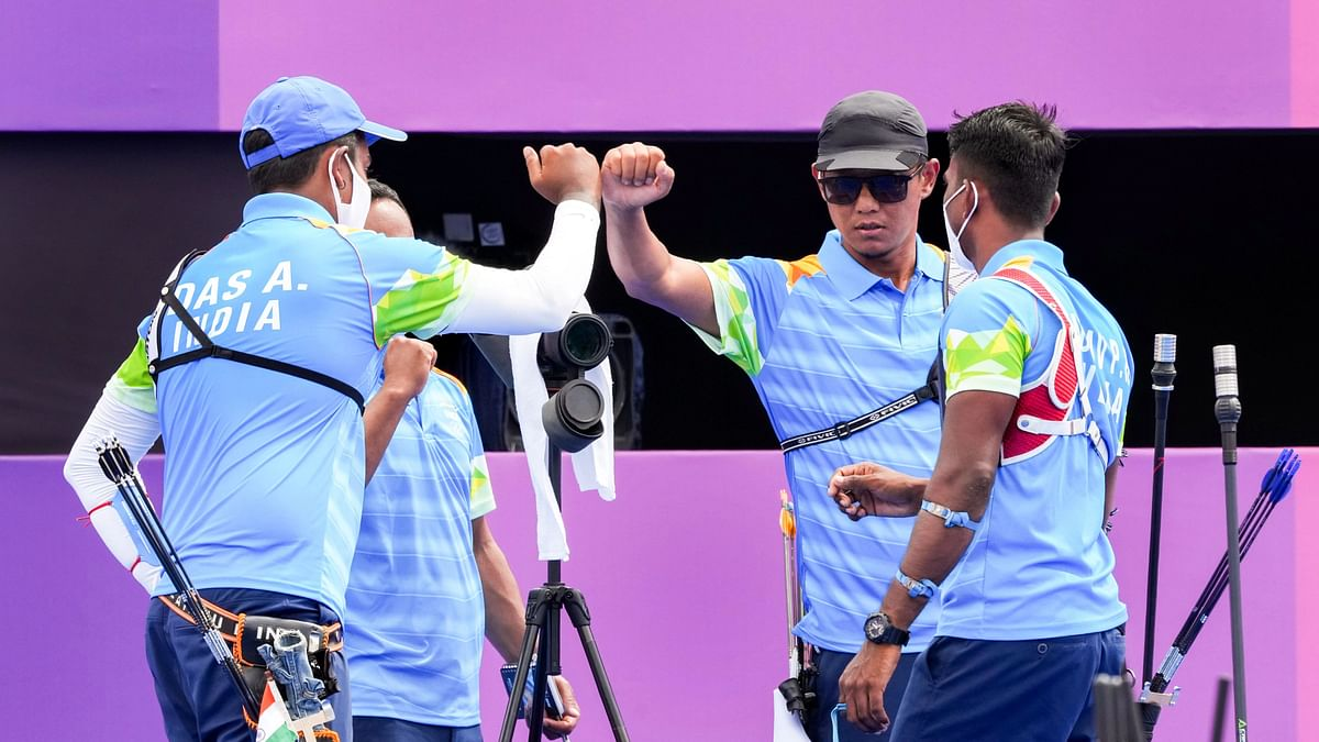 """<div class=""""paragraphs""""><p>Tokyo Olympics: India lost to South Korea in the team event in Archery.</p></div>"""