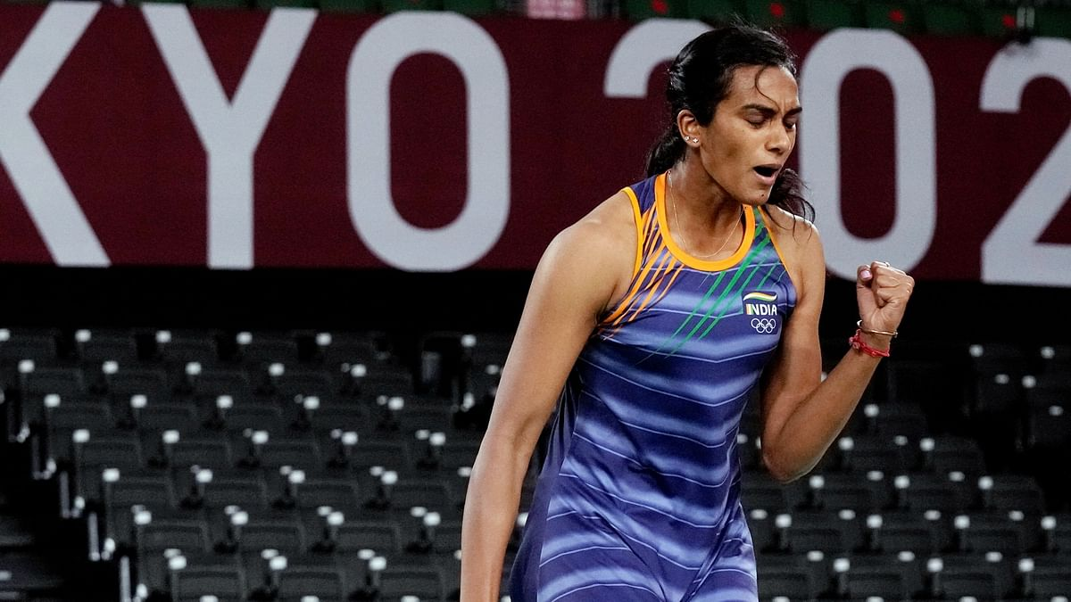 """<div class=""""paragraphs""""><p>PV Sindhu reaches the last-8 of Badminton singles in the Tokyo Olympics.</p></div>"""