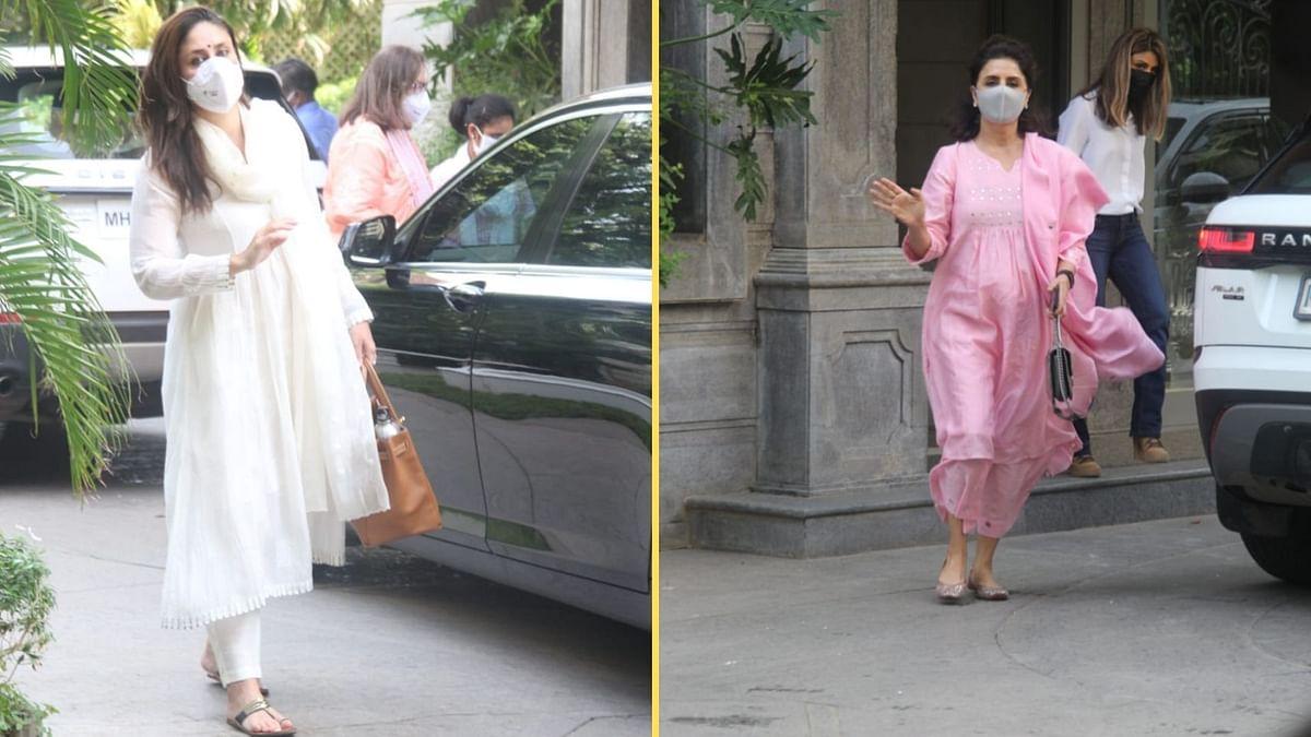 Pics: Kareena, Karisma, Neetu At Randhir Kapoor's Home For Griha Pravesh