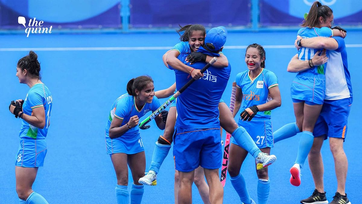 """<div class=""""paragraphs""""><p>The Indian women's team defeated Australia in the QF at the 2020 Tokyo Olympics.</p></div>"""