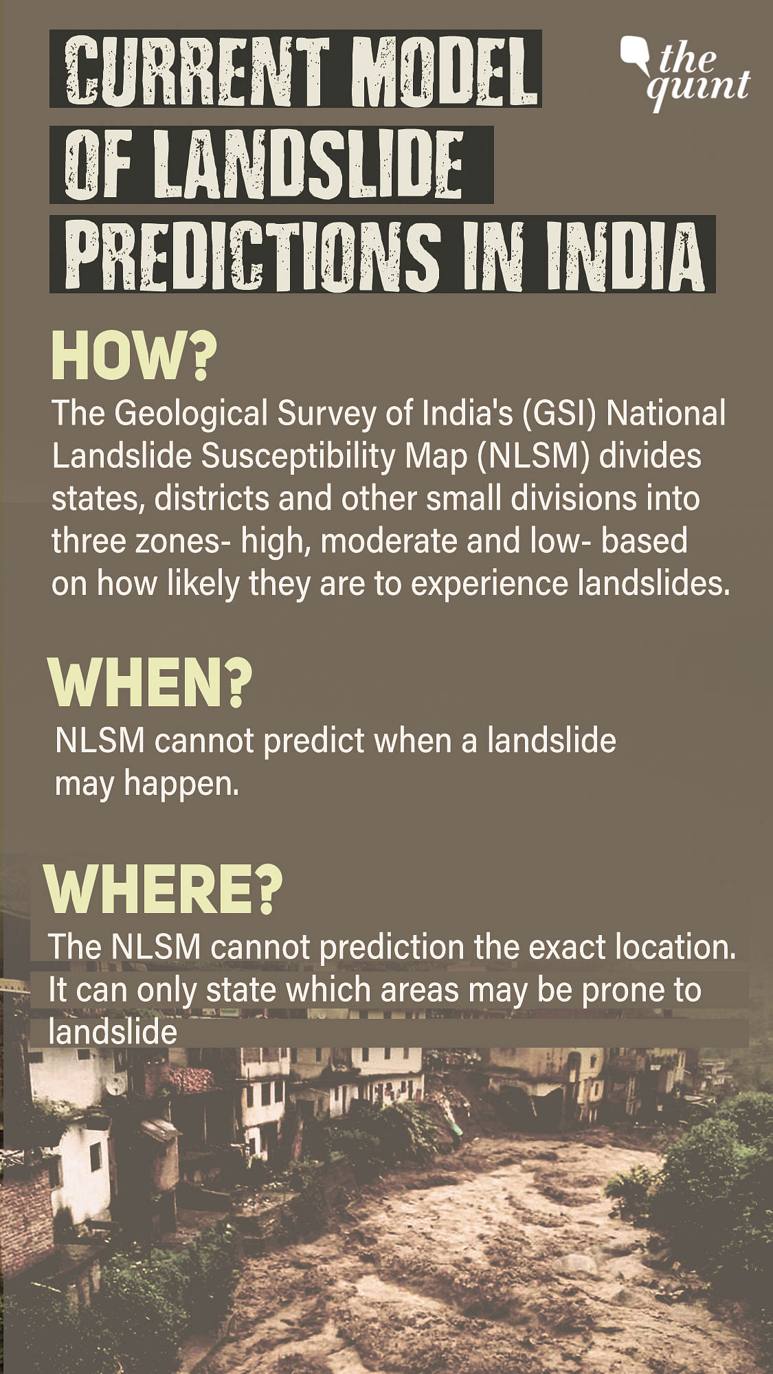 """<div class=""""paragraphs""""><p>Current Model of Landslide Predictions in India.</p></div>"""