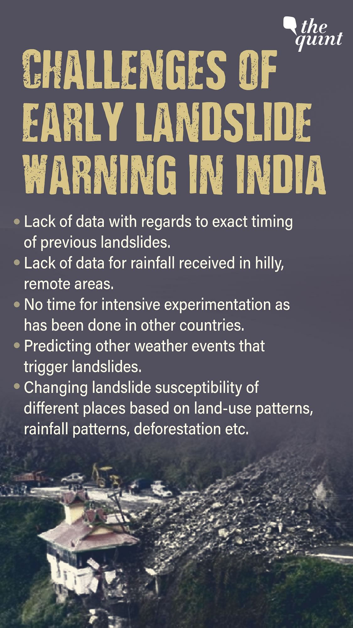 """<div class=""""paragraphs""""><p>Challenges of Early Landslide Warning In India.</p></div>"""