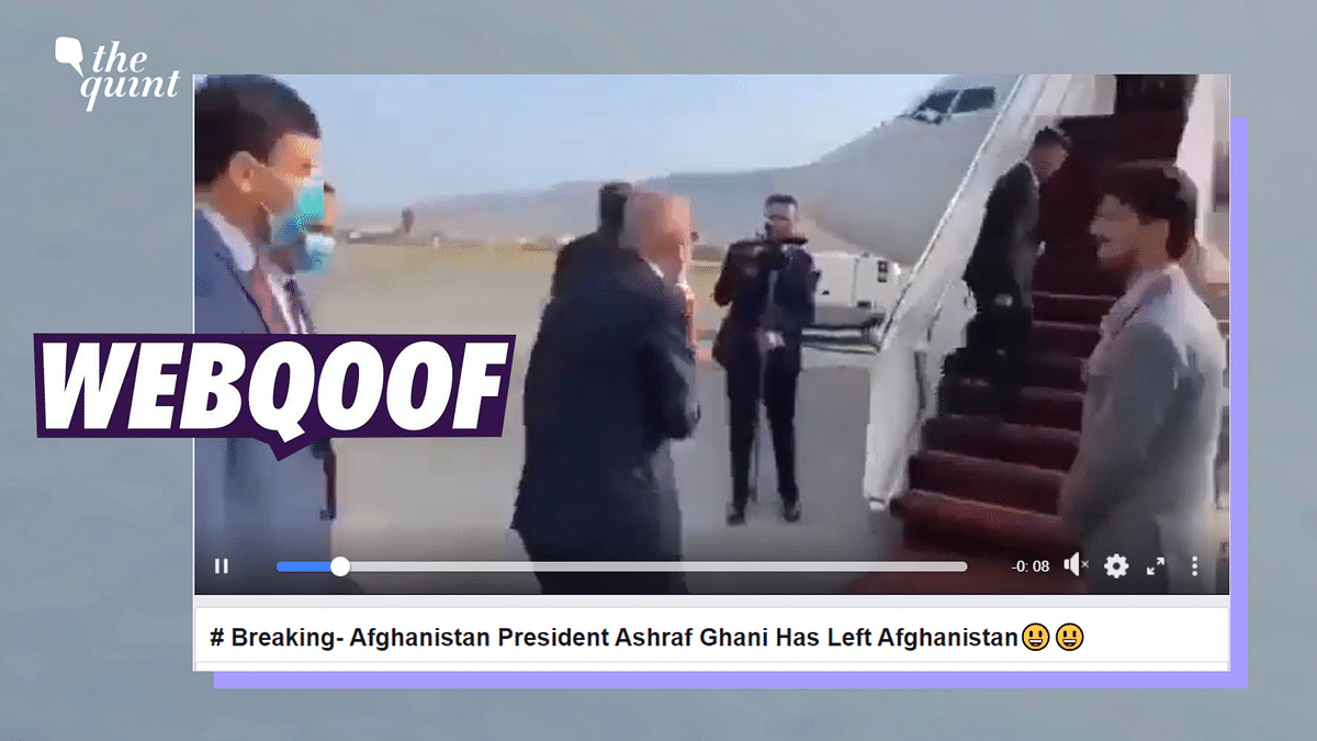 Old Video of Afghanistan President Boarding a Plane Shared Amid Taliban Takeover