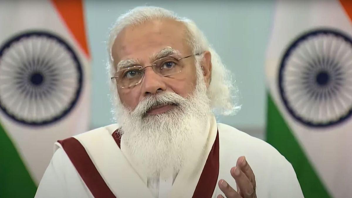 """<div class=""""paragraphs""""><p>PM Modi addresses CII Annual Meeting, 2021.</p></div>"""