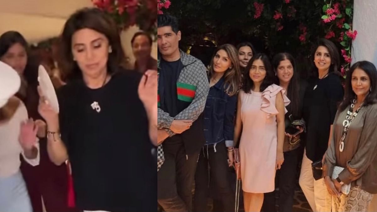 """<div class=""""paragraphs""""><p>Neetu Kapoor had gone to a Greek-themed restaurant on Monday with daughter Riddhima, Manish Malhotra and others.  </p></div>"""