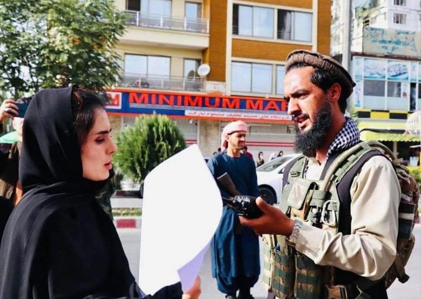 'For My Sisters': Meet the 24-Yr-Old DU Grad Who Led Protests in Kabul
