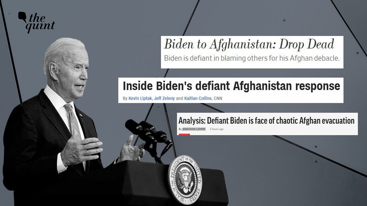 """<div class=""""paragraphs""""><p>Joe Biden's address on the Afghanistan crisis has not gone down well with the US media.</p></div>"""
