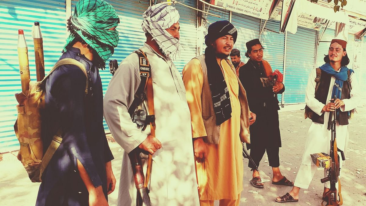 """<div class=""""paragraphs""""><p>Taliban fighters stand guard in Kunduz city, northern Afghanistan on Monday, 9 August. Image used for representational purposes.</p></div>"""