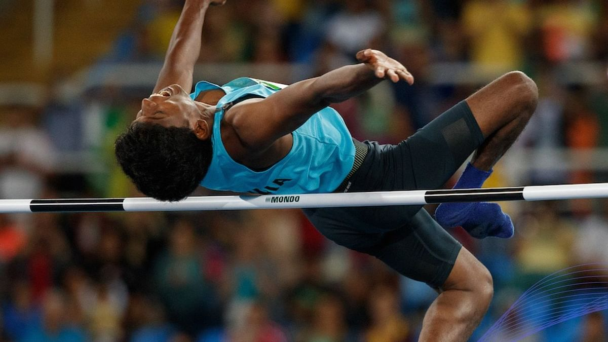 """<div class=""""paragraphs""""><p>Mariyappan won a gold medal in the T-42 high jump category at the Rio Paralympics.</p></div>"""