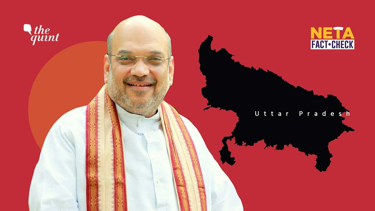 """<div class=""""paragraphs""""><p>Home Minister Amit Shah spoke at a gathering in Uttar Pradesh, prior to the state's upcoming Assembly elections in 2022.</p></div>"""