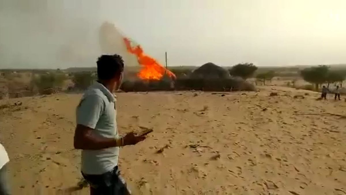 IAF MiG-21 Bison Fighter Aircraft Crashes in Rajasthan, Pilot Ejects Safely