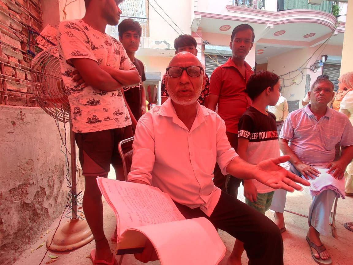 """<div class=""""paragraphs""""><p>Chandrapal, the president of the Jatav mohalla, who is also the complainant in the case.</p></div>"""