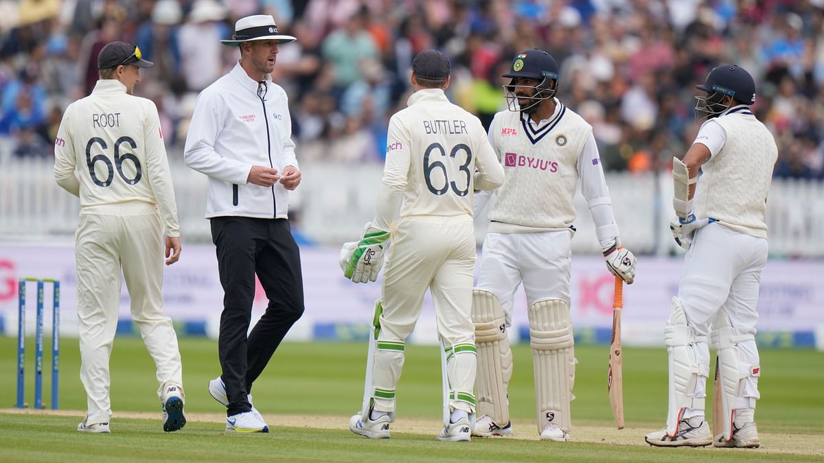 """<div class=""""paragraphs""""><p>Jasprit Bumrah was involved in a heated exchange with wicketkeeper Jos Buttler and bowler Mark Wood.&nbsp;</p></div>"""