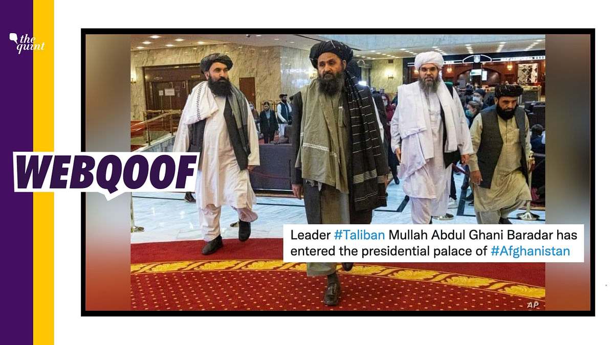 No, This Photo Doesn't Show Taliban Leader Inside Presidential Palace in Kabul