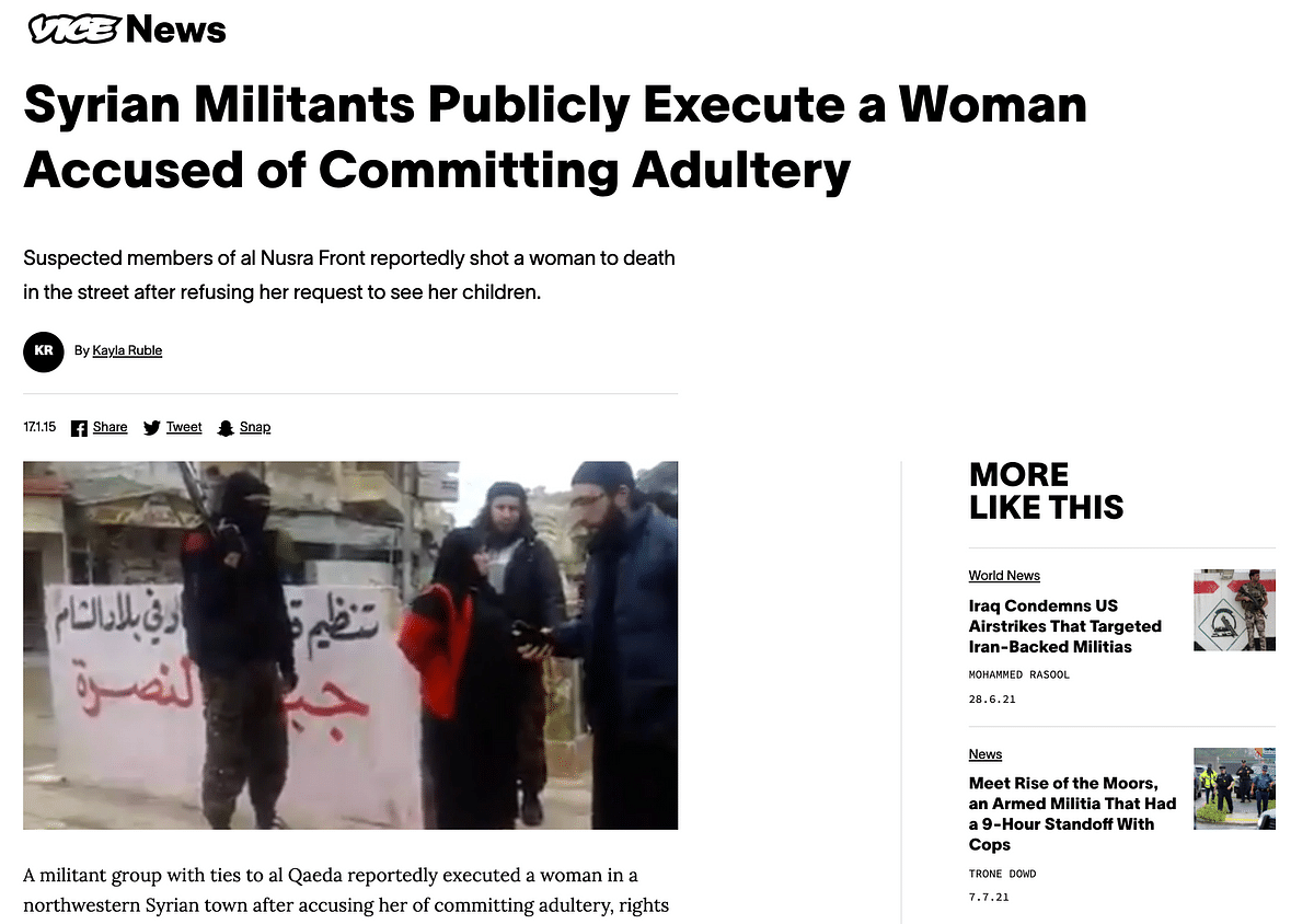 """<div class=""""paragraphs""""><p>Vice News' report led us the video uploaded by local activists.</p></div>"""