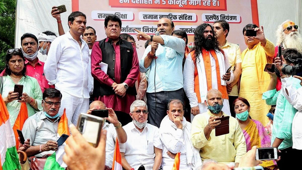 """<div class=""""paragraphs""""><p>Former BJP spokesperson Ashwini Upadhyay and others were purportedly involved in the incident, where incendiary slogans were raised against the Muslim community at a rally held at Jantar Mantar on Sunday, 8 August.</p></div>"""