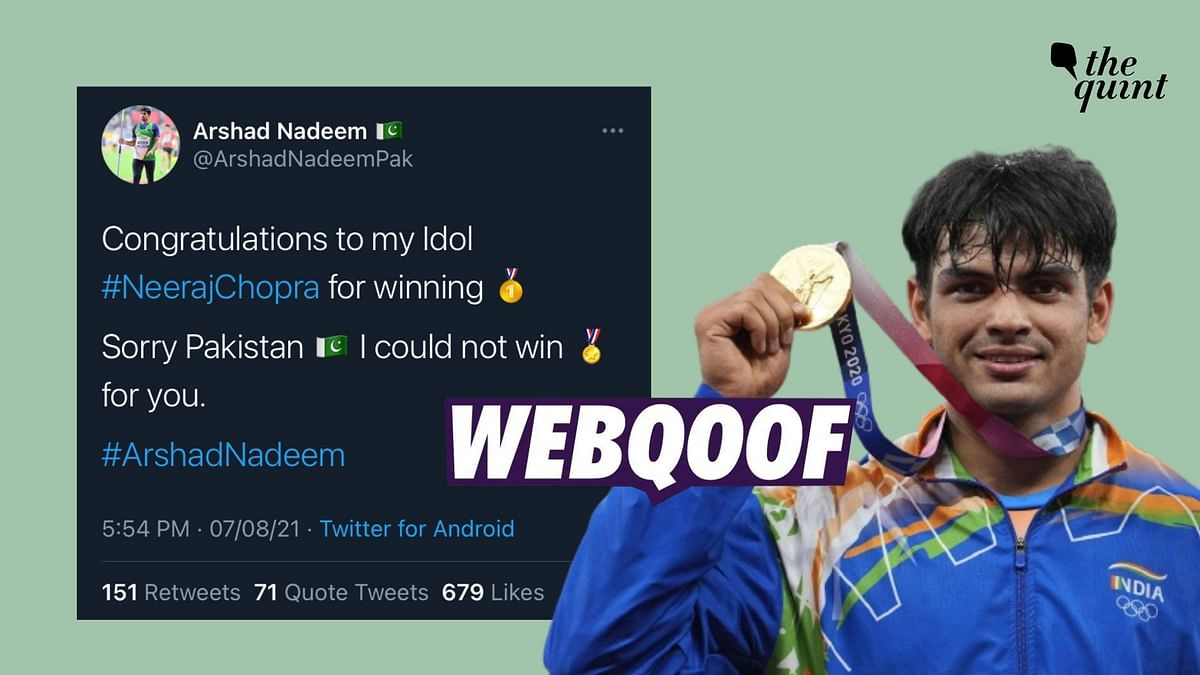 News Outlets Fall For Arshad Nadeem's Fake Account Congratulating Neeraj Chopra