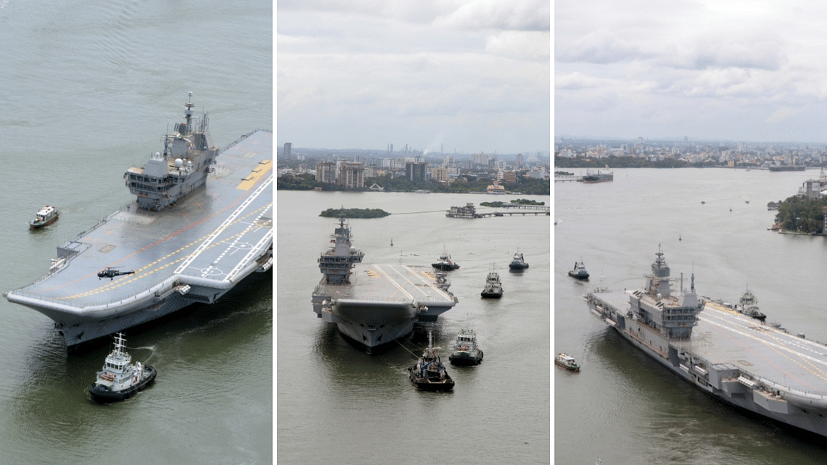 """<div class=""""paragraphs""""><p>INS Vikrant, also known as Indigenous Aircraft Carrier 1 (IAC-1</p></div>"""