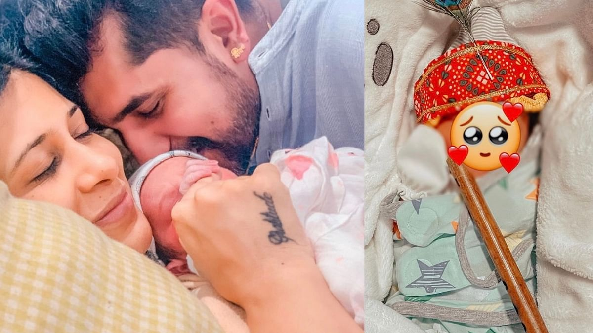 "<div class=""paragraphs""><p>Kishwer Merchant and Suyyash Rai with newborn baby.</p></div>"