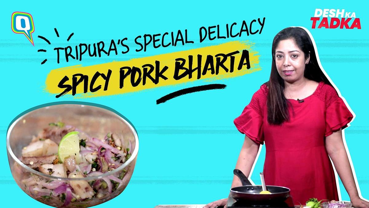How To Make Tripura-Style Pork Salad: Wahan Mosdeng