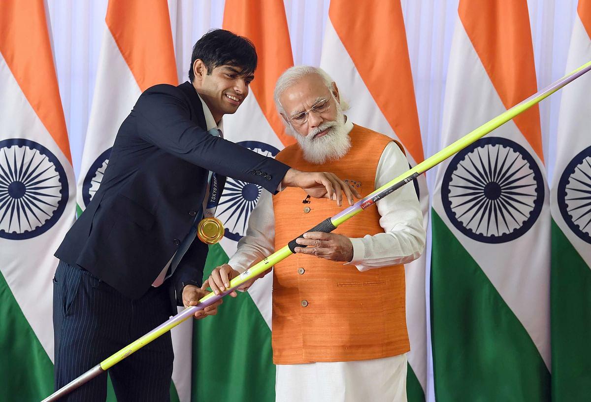"<div class=""paragraphs""><p>Prime Minister Narendra Modi with the Olympic Gold Medalist Neeraj Chopra.</p></div>"