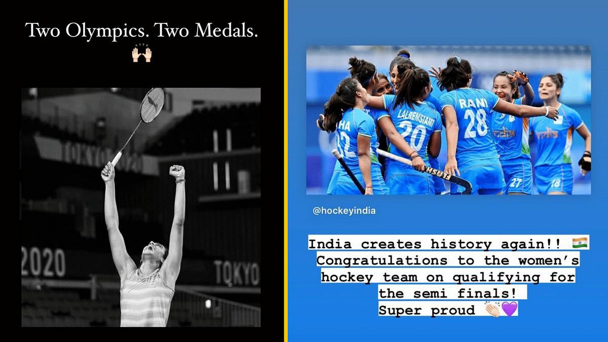 Tokyo Olympics: Alia, Anushka & Others Congratulate Sindhu & Women's Hockey Team