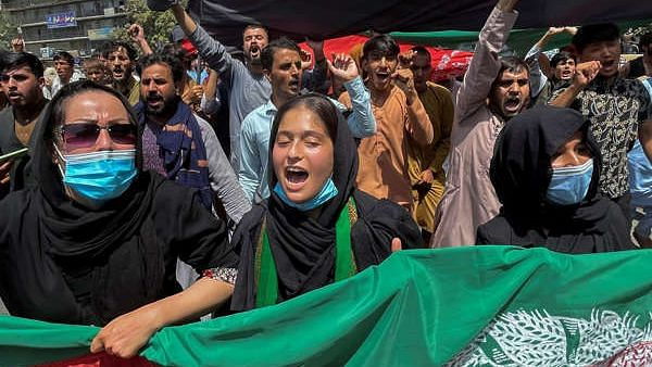 Watch: Afghan Women Stage 'First of Its Kind' Protest Against Taliban