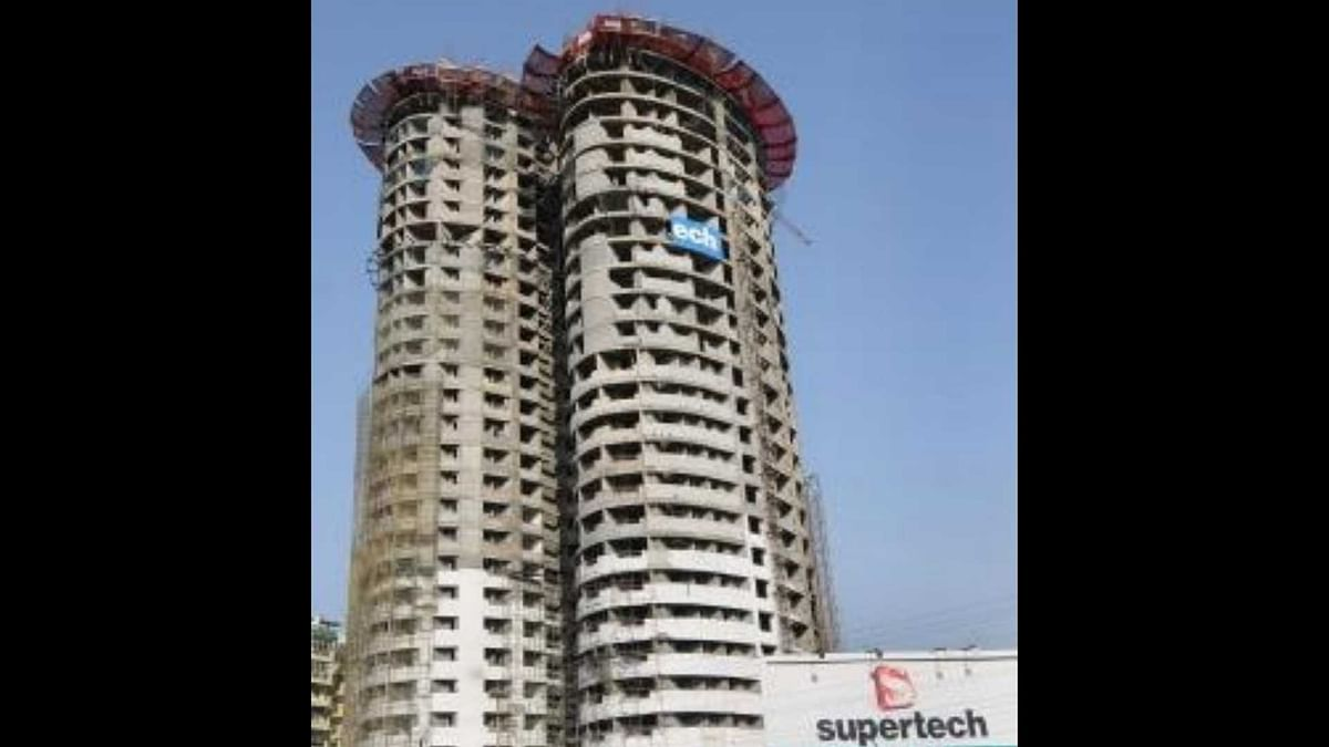"""<div class=""""paragraphs""""><p>Image of Supertech's twin 40-storey towers of their Emerald Court residential project in Noida used for representation purpose.</p></div>"""