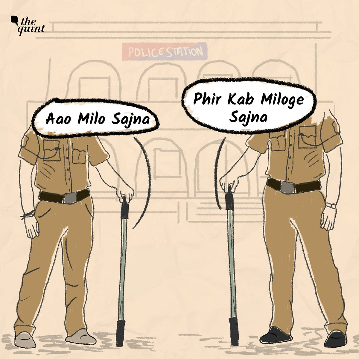 """<div class=""""paragraphs""""><p>The police made Santosh (14) read the <em>dandas</em> they beat him up with.&nbsp;On the front it was written """"aao milo sajna"""" (come meet me, lover), and on the back, """"phir kab miloge sajna"""" (when will you meet me next, lover).</p></div>"""
