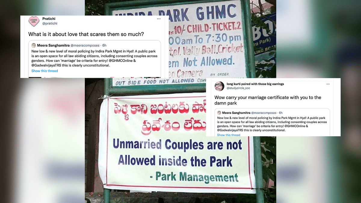 Hyderabad Park Prohibits Unmarried Couples From Entering, Notice Goes Viral