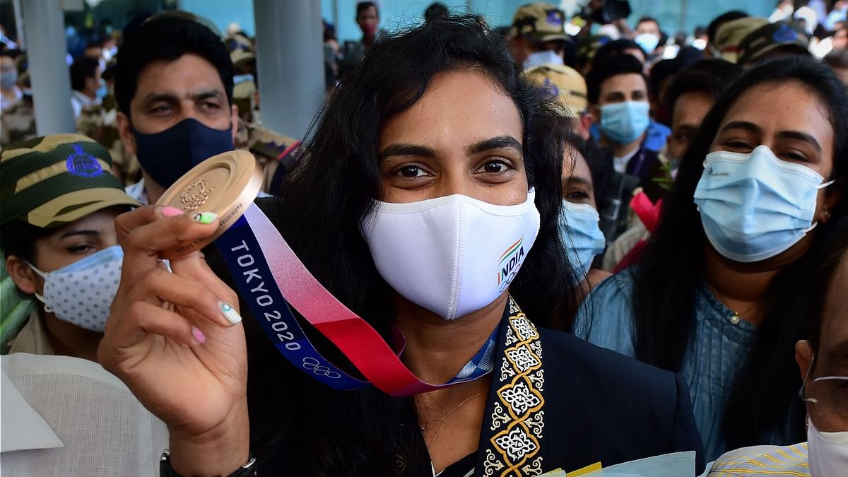 """<div class=""""paragraphs""""><p>PV Sindhu is the first Indian woman to win two Olympic medals.&nbsp;</p></div>"""