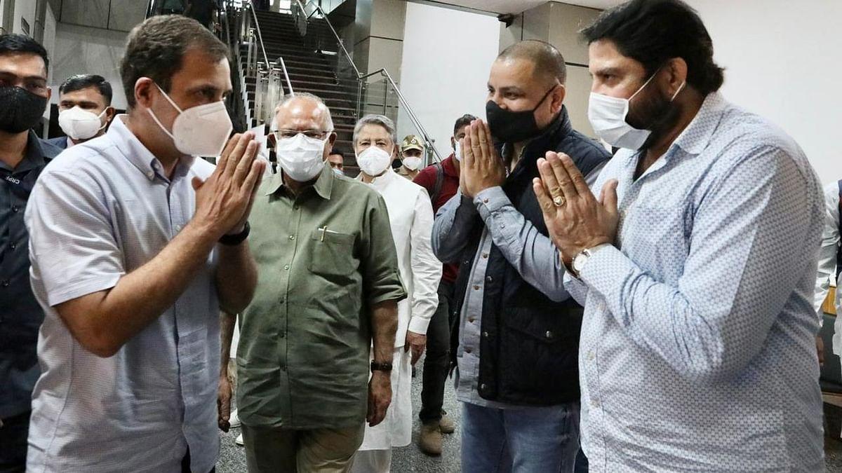 Rahul Gandhi Reaches Srinagar; To Meet Cong Leaders and Inaugurate Party HQ