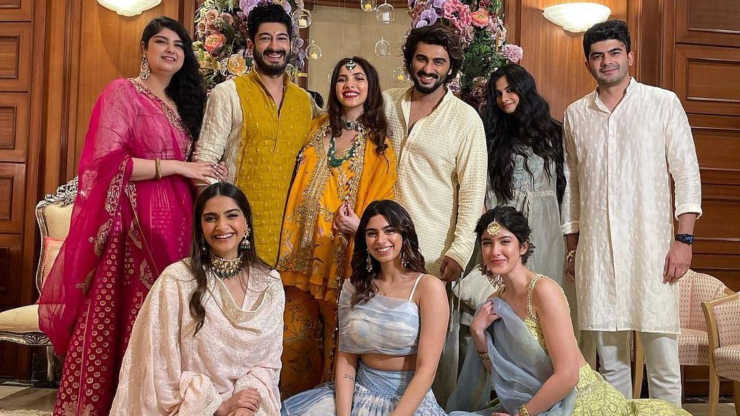 Pics: Arjun Kapoor, Sonam, Rhea at Antara Marwah's Baby Shower