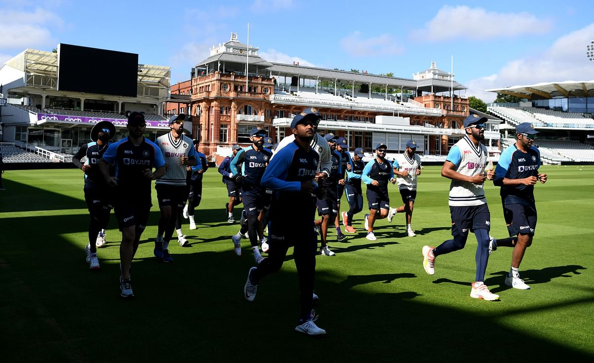 """<div class=""""paragraphs""""><p>India at a training session before the Lord's Test against England.</p></div>"""