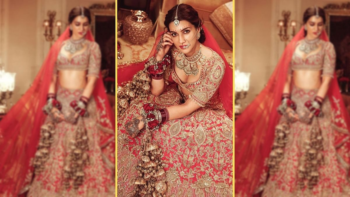 India Couture Week 2021: Kriti Sanon Stuns in a Manish Malhotra Bridal Outfit