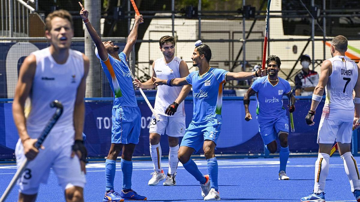 "<div class=""paragraphs""><p>Mandeep Singh celebrating India's second goal against Belgium at Tokyo Olympics.</p></div>"